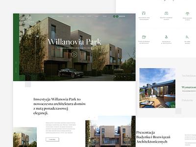 Willanovia Park Estate prototyping webdesig figma poland warsaw realestate marketing webdevelopment wordpress render cgi ui ux