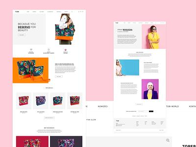 TOBI berlin colours ui ux sketch commerce minimalist design woocommerce bags fashion online shop ecommerce