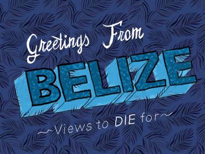Belieze breaking bad walt saul type typography lettering 3d type blue palms vacation
