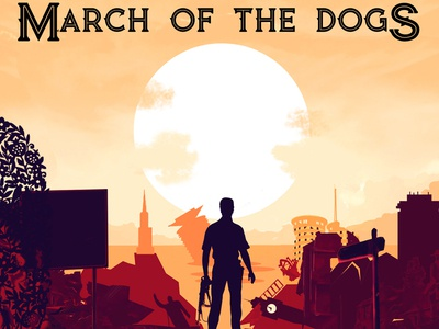 March Of The Dogs Book Cover Design