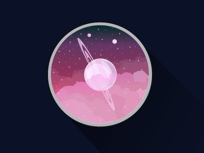 Saturn from Titan planet clouds stars illustration titan cosmos saturn space