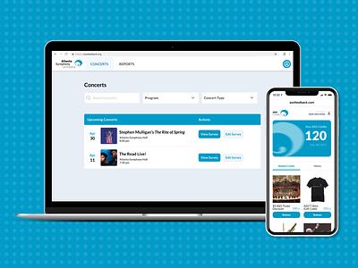 Atlanta Symphony Orchestra Patron Feedback georgia tech branding sketch white minimal app website backend service ux ui service design