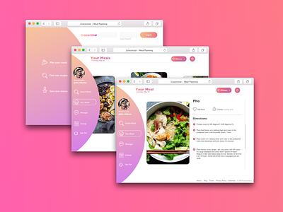 Groceristar web gradient ux startup ukraine food ui sketch invision design app