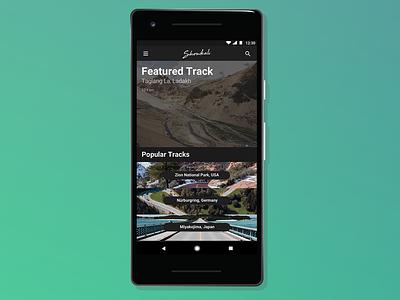 Showkali gradient photoshop race track race amoled dark pixel android mobile sketch design app
