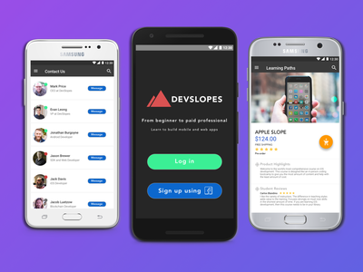 Devslopes Inspiration samsung white material android learn sketch app code mobile sketch