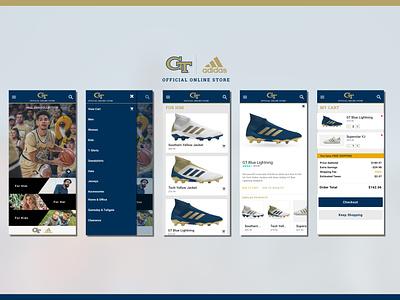Georgia Tech x Adidas adidas shop app mobile georgia tech sketch design