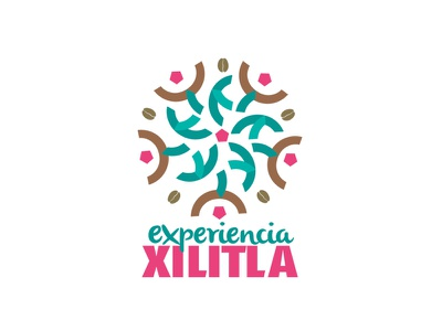 experiencia XILITLA logo holograma vector illustrator logo mexico