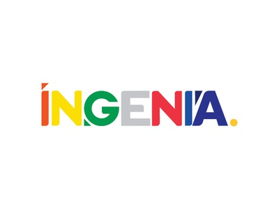 INGENIA logo holograma studio colors mexico illustrator