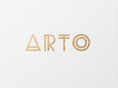 Arto Logo gold design exclusive luxus handcrafted artisan jewelry logo