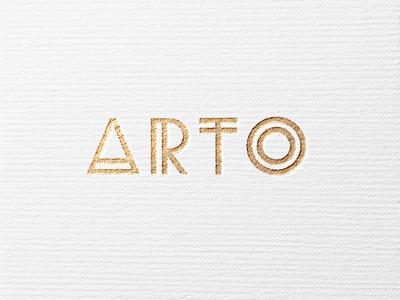 Arto Logo gold design exclusive luxus handcrafted artisan jewelry logo