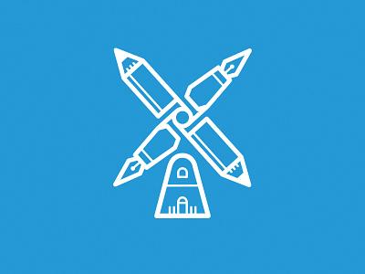 Pencil Windmill windmühle icon vector windmill pen pencil