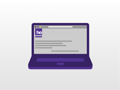 Laptop ho purple vector icon notebook laptop