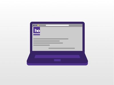 Laptop ho purple vector icon notebook laptop