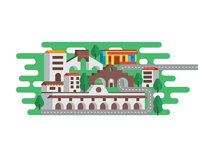 Ciudad Valles small world houses vector mexiko mexico ciudad valles map