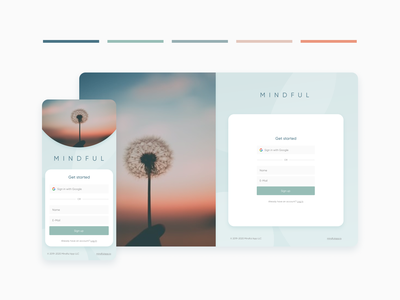 Daily UI 001 - Sign Up art flat minimal website web app typography ux ui design modern