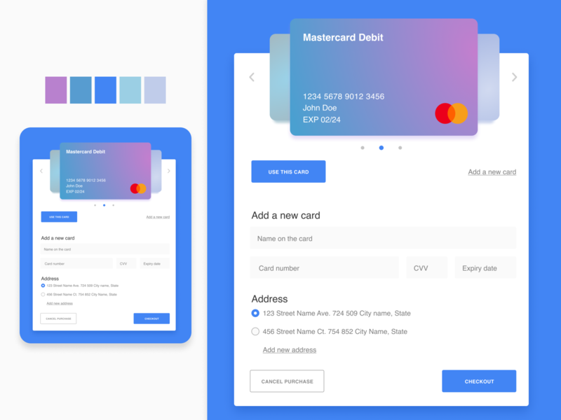 Daily UI 002 - Credit Card Checkout type modern design website web ux ui typography flat app