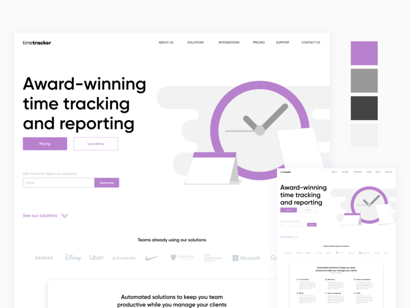Daily UI 003 - Landing Page type typography daily ui landing page vector illustration website web ui design flat