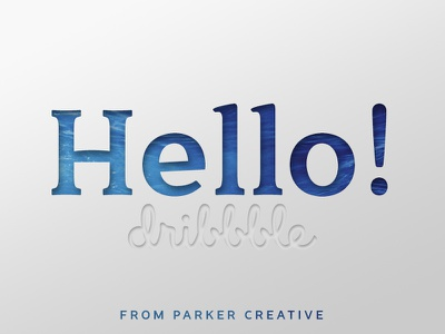 Hello Dribbble Community! graphic design parker creative glyphs illustrator sans-serif serif foundry font typography type