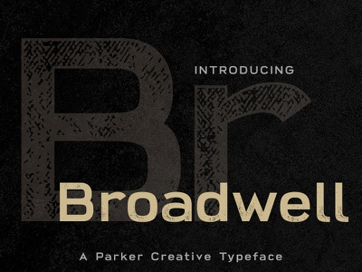Broadwell - Wide Sans-Serif sans serif retro vintage distressed wide body font
