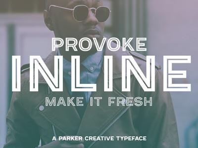 Provoke - A Fresh Inline Typeface