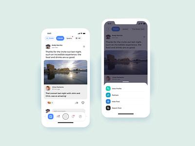 Feed design feed mobile app socialmedia