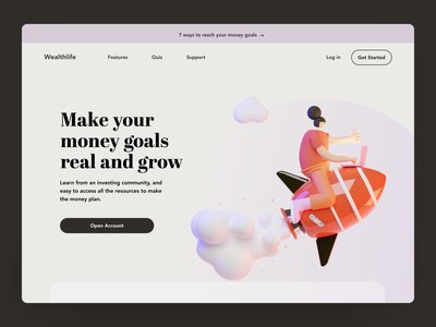 Landing page money transfer investment landingpage homepage design home screen home page homepage home landing page design landing design webdesign website landing lage