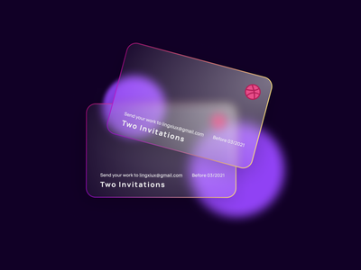 Dribbble two invitations available! cards ui card dribbble best shot invitations invitation dribbble invite dribbble