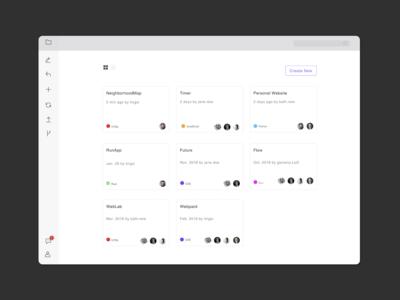 Activity feed interface for desktop app