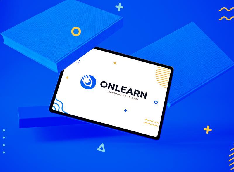 Onlearn design school elearning learning icon logo branding