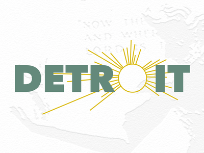 Detroit City Sticker - Dribbble Weekly Warmup