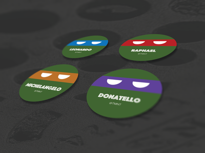 Superhero Business Card (TMNT) - Dribbble Weekly Warmup 2