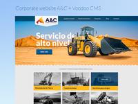 A&C Corporate Website + Voodoo CMS