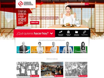 Nuevo sitio Cámara de Comercio de Bucaramanga colombia red company bogotá voodoo bucaramanga website