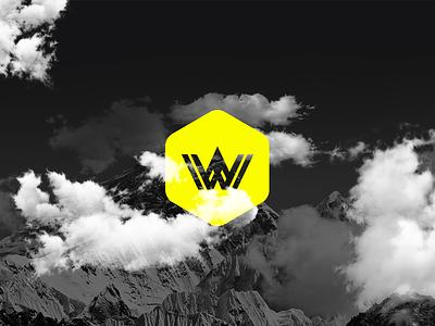 WOFI - Logo - Branding geometric logofolio inspiration nubes motañas mountains clouds hexagon yellow colombia bucaramanga logo