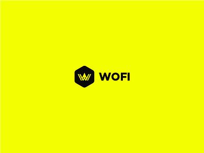 WOFI Logo  logo bucaramanga colombia yellow hexagon inspiration logofolio geometric polanco wofi