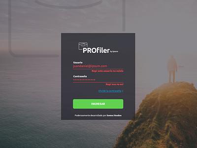 Error Login Profiler bucaramanga green button error login profiler form material