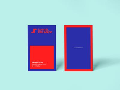 My business card blue business cardm red card bucaramanga colombia ux ui diseño daniel polanco