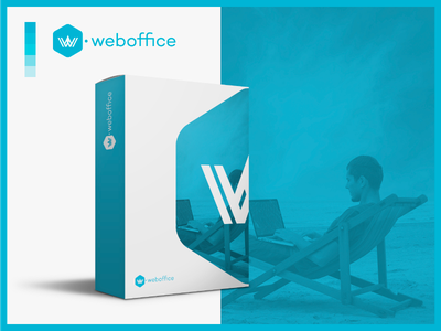 WOFI Weboffice box product branding udi wofi somos voodoo teletrabajo bucaramanga freelance blue logo