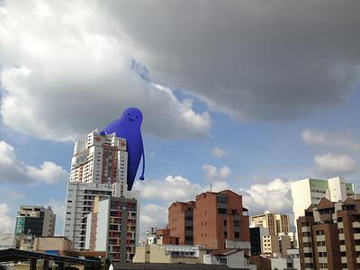 Ey Buddy! monster buddy blue illustration colombia polanco bucaramanga