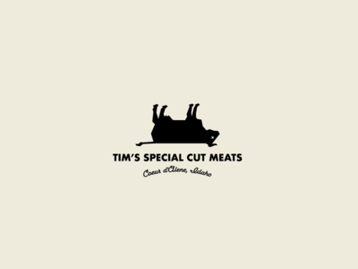 Tim's Special Cut Meats cow icon idaho meat butcher branding logo