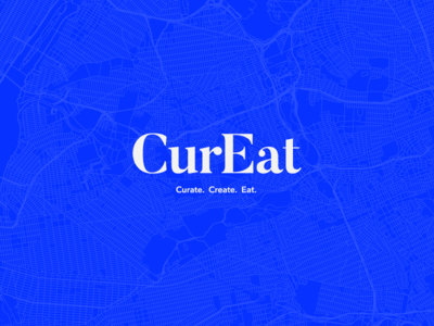 CurEat - Branding curate app create eat food logo branding