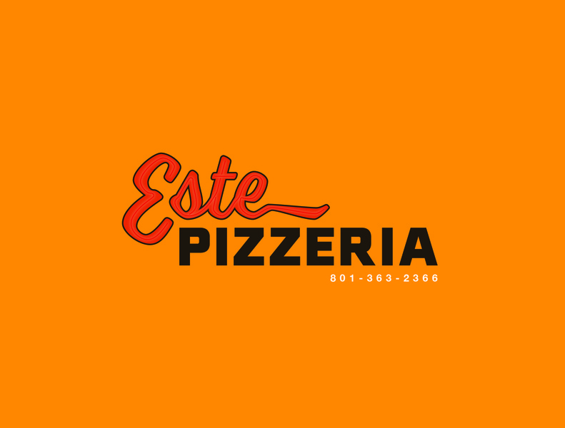 Este Pizzeria slc salt lake city pizzeria pizza logo pizza