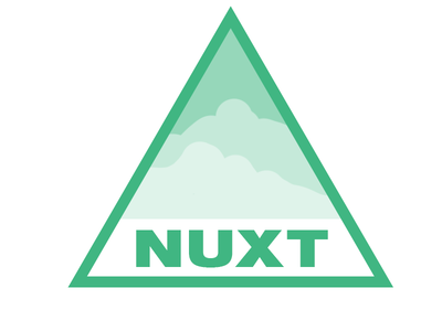 Nuxt.js Design Clouds logos helvetica helveticaneue design logo javascript