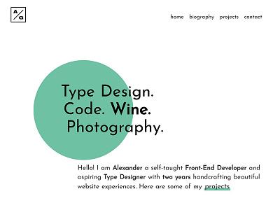 My Personal Portfolio minimalist geometric branding ui typography portfolio