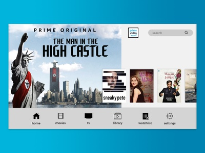 Amazon Prime Video - Proof of Concept amazon ux user interface simple minimal ui