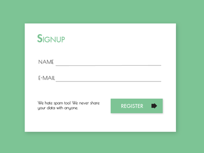 Daily UI Challenge - #001 Signup dailyui forms signup user interface ui