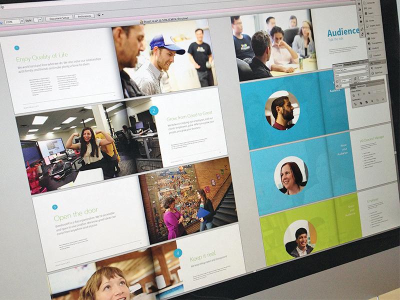 Brand Book branding focus lab bamboohr logo logo design identity print brand book voice values