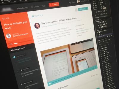 Articulate + Focus flat simple ui lessons focus lab identity logo branding user interface clean