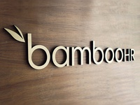 Bamboo Branding Wall Piece - not flat