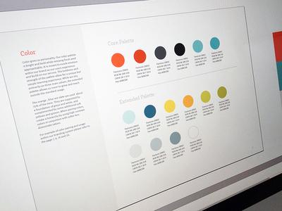 Color Palette branding color style guide brand book focus lab identity fresh logo print